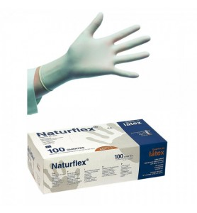 guantes de látex naturflex