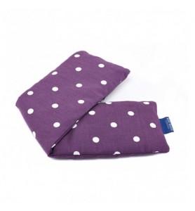 Bolsa de trigo lavanda violeta punteada