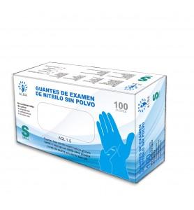 Guantes de nitrilo sin polvo azul Alba