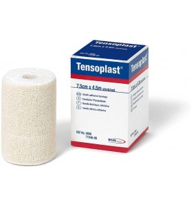 Tensoplast, venda elástica adhesiva de algodón.