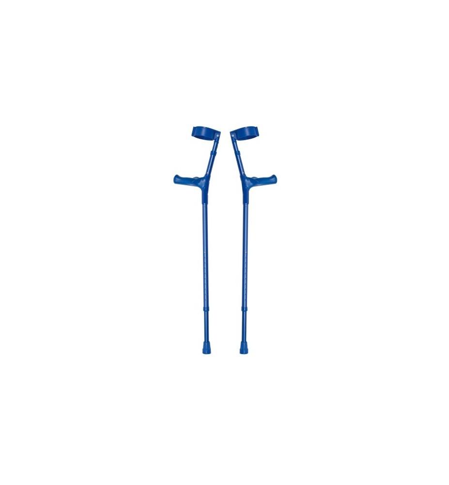 Muletas ligeras azul